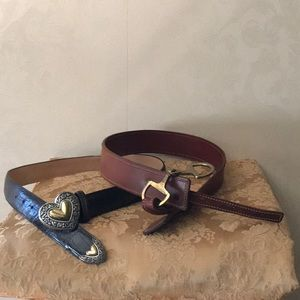 2 Leather Belts